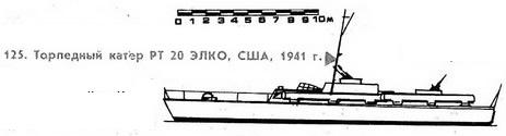 125. Торпедный катер РТ 20. ЭЛКО, США, 1941 г.