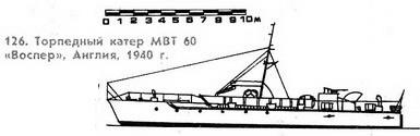 "126. Торпедный катер МТВ 60, ""Воспер"",  Англия, 1940 г."